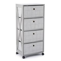 Simple by Design 4-Drawer Rolling Storage Tower