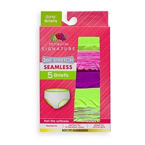 Girls 6-16 Fruit of the Loom 5-pack Seamless Brief Panties