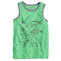 Boys 4-10 Jumping Beans® Dinosaurs Wearing Sunglasses Graphic Tank Top
