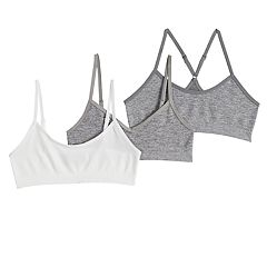 Girls 7-16 Maidenform 3-pack Beginner Crop Bras
