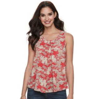 Women's Juicy Couture Pleated Woven Tank