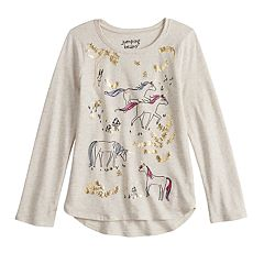 Girls 4-12 Jumping Beans® Embellished Graphic High-Low Hem Tee