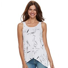 Women's Apt. 9® Strappy Shark-Bite Hem Tank
