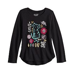 Girls 4-12 Jumping Beans® Embellished Graphic Long-Sleeve Tee