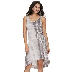 Women's Juicy Couture Tie-Dyed Knit Gathered Dress