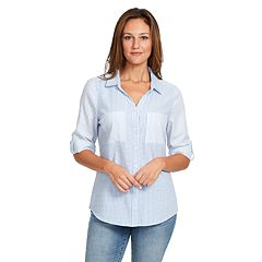 Women's Gloria Vanderbilt Lenora Roll-Tab Shirt