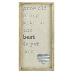 Belle Maison 'Grow Old with Me' Wall Decor
