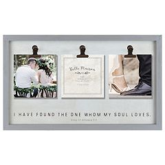 Belle Maison 'I Found The One' 3-Clip Collage Frame