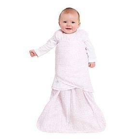 Baby HALO Muslin Pink Circles SleepSack Swaddle