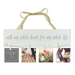 Belle Maison 'With My Whole Heart' 4-Clip Wall Decor