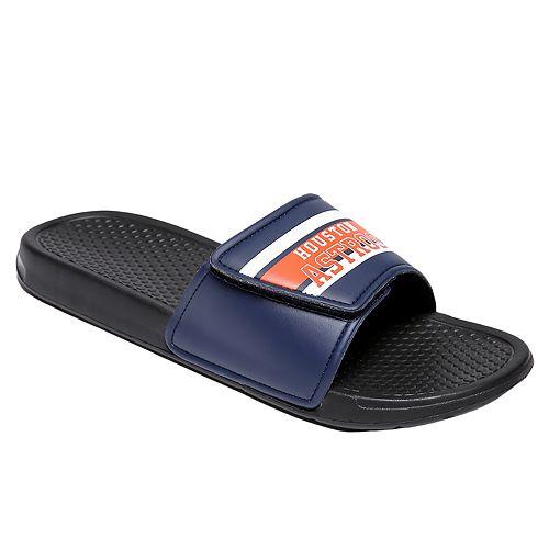 Men's Forever Collectibles ... Houston Astros Legacy Slide Sandals LnTQEp70hi