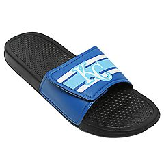 Men's Forever Collectibles Kansas City Royals Legacy Slide Sandals