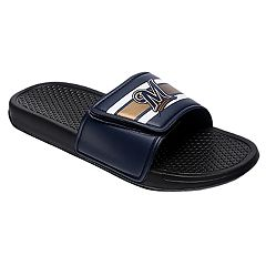 Men's Forever Collectibles Milwaukee Brewers Legacy Slide Sandals