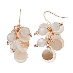 White Faux Shell Drop Earrings