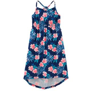 Girls' 4-12 OshKosh B'gosh® Print High-Low Hem Midi Dress
