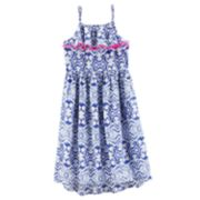 Girls' 4-12 OshKosh B'gosh® Print Ruffled High-Low Hem Midi Dress