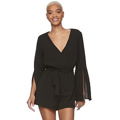 Juniors' Lily Rose Wrap Front Romper