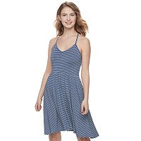Juniors' SO® Strappy Knit Skater Dress