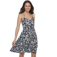 Juniors' SO® Strappy Knit Skater Dress