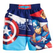 Boys 4-7 Marvel Captain America Swim Trunks