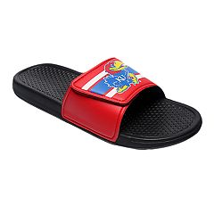 Men's Forever Collectibles Kansas Jayhawks Legacy Slide Sandals