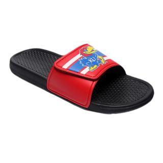 Men's Forever Collectibles Kansas Jayhawks Legacy Slide Sandals