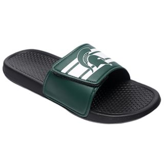 Men's Forever Collectibles Michigan State Spartans Legacy Slide Sandals