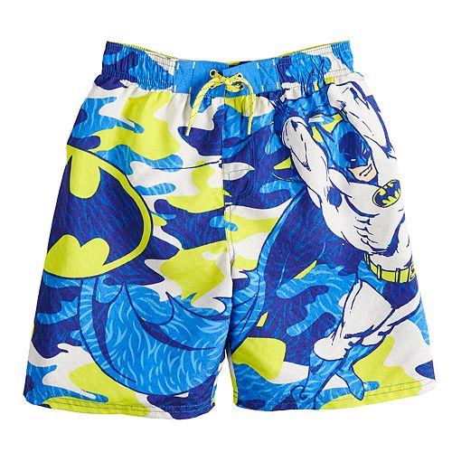 Boys 4-7 DC Comics Batman Camouflaged Swim Trunks