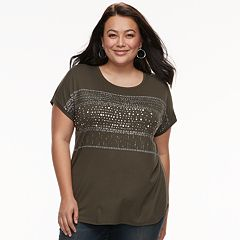 Plus Size Apt. 9 Scoopneck Graphic Tee