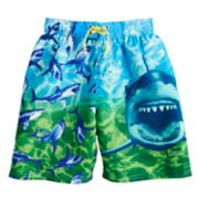 Boys 4-7 National Geographic Sharks & Fish Swim Trunks