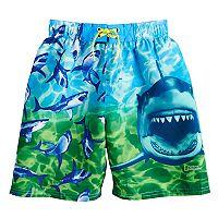 Boys 4-7 National Geographic Sharks & Fish Swim Trunks