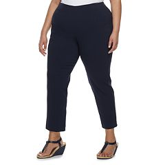 Plus Size Croft & Barrow® Pull-On Ankle Pants