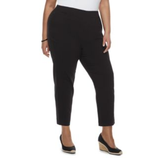 Plus Size Croft & Barrow® Pull-On Ankle Pants
