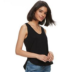 Juniors' Mudd® Shirttail V-Neck Tank