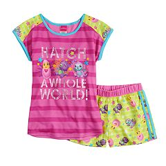 Girls 4-12 Hatchimals 'Hatch A Whole World!' Top & Shorts Pajama Set