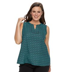 Plus Size Dana Buchman High-Low Sleevless Top