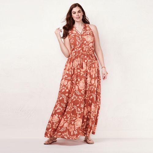 67fc8afe4 Plus Size LC Lauren Conrad Halter Maxi