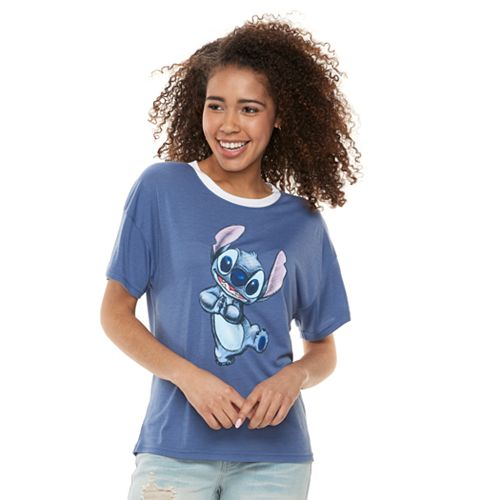 9a7543e52 Disney's Lilo & Stitch Juniors' Dancing Graphic Tee