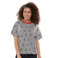Disney's Mickey & Minnie Mouse Juniors' All-Over Graphic  Tee