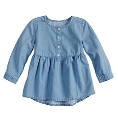 Toddler Girl Jumping Beans® Chambray Babydoll Top