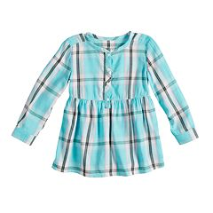Baby Girl Jumping Beans® Plaid Henley