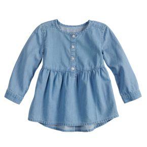 Baby Girl Jumping Beans® Chambray Babydoll Top