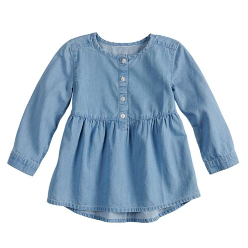 Baby Girl Jumping Beans® Chambray Babydoll Top