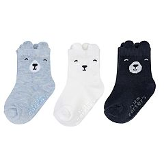 Baby Boy Carter's 3-pack Bear Crew Socks