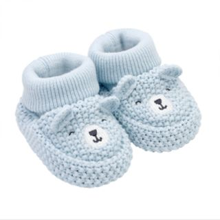 Baby Boy Carter's Bear Crochet Booties