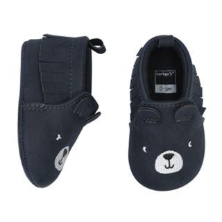 Baby Boy Carter's Bear Moccasin Crib Shoes