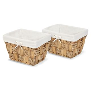 Soho Market Checkerboard Seagrass 2-pack Accessory Bins