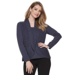 Women's Napa Valley Pointelle Mock-Layer Cardigan