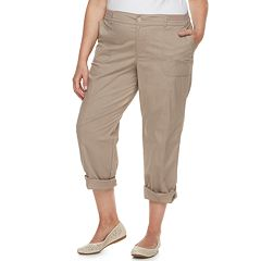 Plus Size Croft & Barrow® Twill Convertible Pants