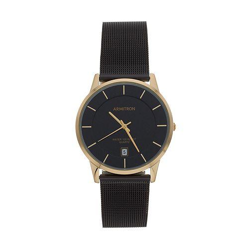 Armitron Men's Two Tone Stainless Steel Mesh Watch - 20/5123GPTI